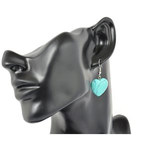 1p earrings natural stone on silver metal 71253