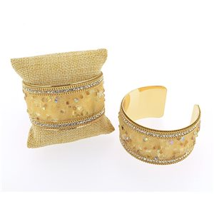 Rhinestone Bracelet Seed Privilege gold metal Fashion Chic New Collection 71377