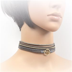 Collier ras de cou Chic et Strass New Collection Choker L32-40cm 71737