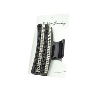 New Collection Black & Strass L8cm Hair Clip 71949