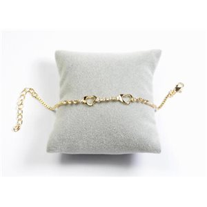 Bracelet Strass Chic L19-23cm Collection métal doré 65899