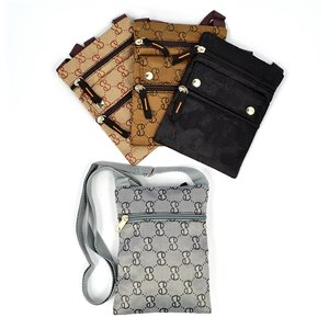 Set of 4 Pockets 18x14cm with shoulder strap with 4 pockets including 3 Zip 72437