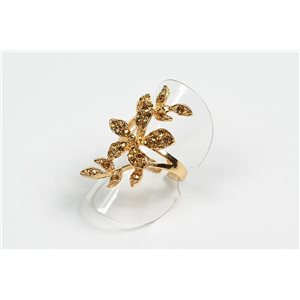 Adjustable Ring Full Strass on metal gold color New Collection 72620