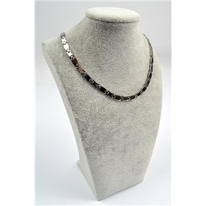 Chain Necklace in Stainless Steel L50cm Steel Color New Collection 72757