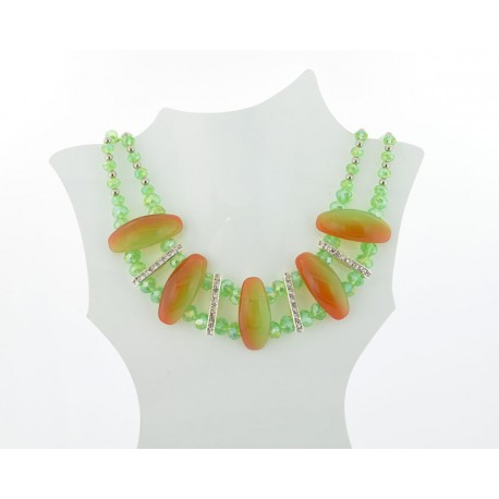 Necklace faceted Glass Beads Jewelry Rhinestones on L50cm 61393