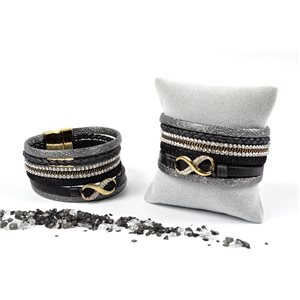 Bracelet full-cuff l19cm magnetic clasp 35mm collection spring new 73117