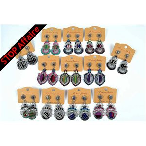 Lot of 12p Earrings ATHENA Collection Ethnique 73299
