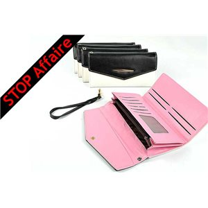 Set of 5 Woman Wallet Grained L19-H10cm Collection Classic 73324