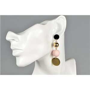 1p Earrings Nail Earrings Gold Color Collection Graphika 73462