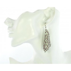1p Ears Mesh Earrings Disco 64559