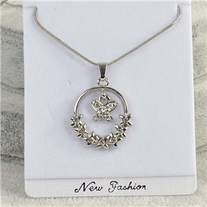 Pendant necklace IRIS rhinestone strass chain snake L40-45cm Collection 2018 75156