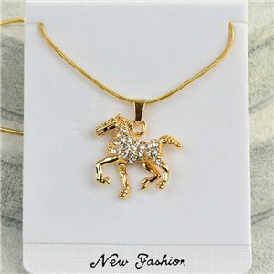 Necklace pendant IRIS rhinestone gold chain chain snake L40-45cm Collection 2018 75175