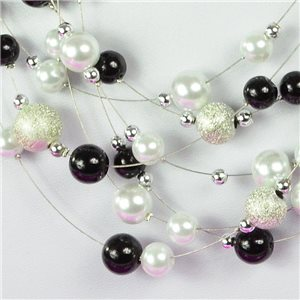 Adornment Necklace 7 rank Cascade imitation Pearl L44-48cm Collection Suspension 2018 75124