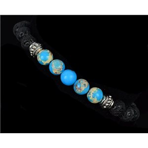 Tibetan Natural Stone Bracelet Collection 5 Upper Chakras 76119