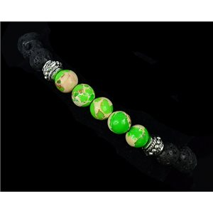 Tibetan Bracelet in Natural Stone Collection 5 Upper Chakras 76122