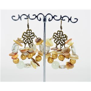 1p Earrings Mother of Pearl and Shell Fashion Summer Fashion 76157