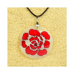 Pendant necklace 5 cm Natural Mother of Pearl Fashion Design L48cm New Collection 76202