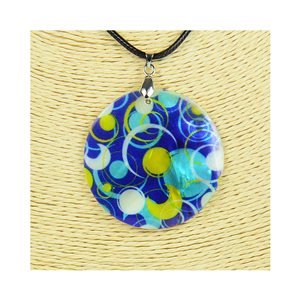 Pendant necklace 5 cm Natural Mother of Pearl Fashion Design L48cm New Collection 76240