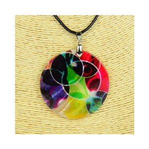 Pendant necklace 5 cm Natural Mother of Pearl Fashion Design L48cm New Collection 76241