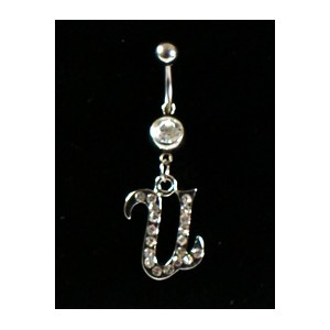 Piercing Strass Collection Steel 316L Letter U 32453