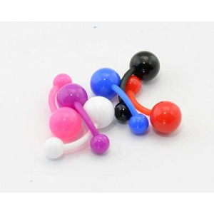 6 Piercing Banana Flexible D1.6mm L10mm Ball UV 60898