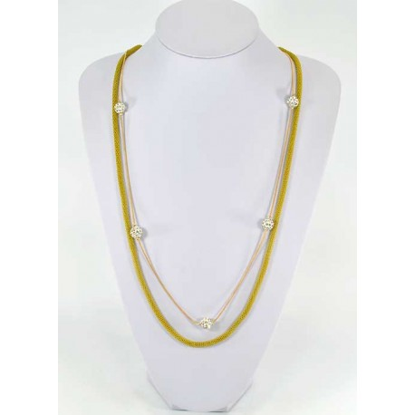 New Color Choker Necklace with Rhinestone Balls Pierre 57952