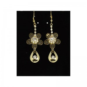 1p Strass Earrings Golden Ears Charm Collection 65922