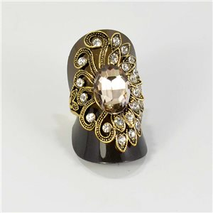 Adjustable ring Rhinestones Strass Gold Full Collection Spring 67231