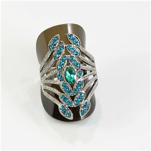 Rhinestone adjustable ring Silver Spring Collection Full Strass 67540