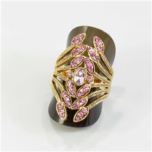Adjustable ring Rhinestones Strass Doré Full Collection Spring 67548
