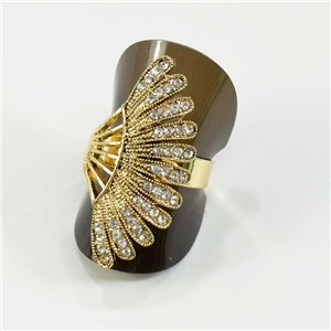 Adjustable ring Rhinestones Strass Doré Full Collection Spring 67582