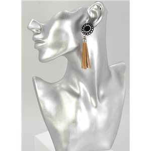 1p Strass Earring Collection Leather 68066