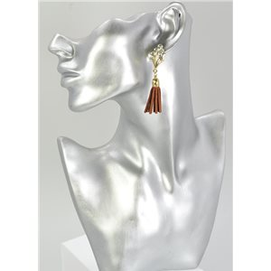 1p Strass Earring Collection Leather 68070