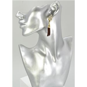 1p Strass Earring Collection Leather 68071