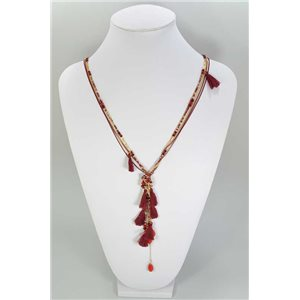 Long necklace Pompon on Pearl Fancy Collection Spring 67353