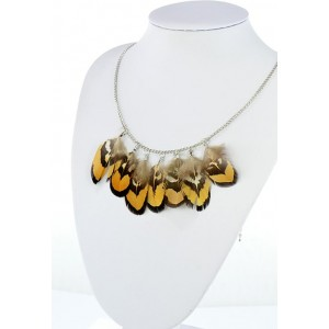 Collection Fashion Feather Necklace on chain L60cm 64702