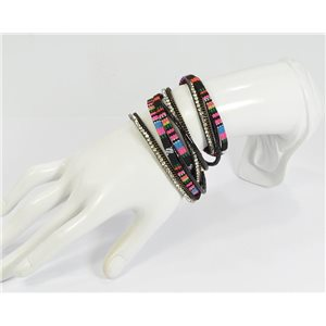 Rhinestone Bracelet twisted magnetic clasp New Multi Row Effect Collection 68287