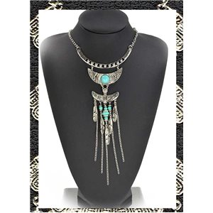 ATHENA silver metal necklace Ethnic Fashion Collection 2016 68385