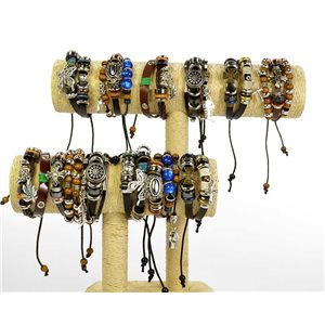 12 Bracelets Leather and Jewelry on slipknot - 6 models Man or Woman 68271