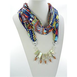 Scarf Necklace Jewelry Polyester Spring Summer Collection 2016 68481