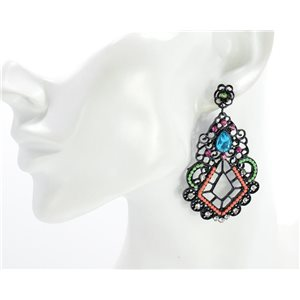1p Earring CYBELE Full Rhinestone Black Vintage Collection 2016 68730