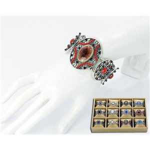 ATHENA metal stretch bracelet Pearl and Rhinestone Ethnic Collection 2016 68768