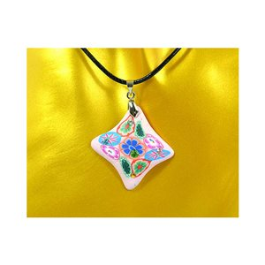 Necklace pendant with his pate Polymer New Spring Collection 65728