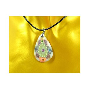 Necklace pendant with his pate Polymer New Spring Collection 65732