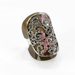 Bague Strass réglable Full Strass SILVER Vintage Collection 67749