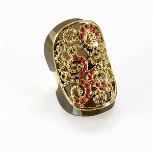 Bague Strass réglable Full Strass GOLD Vintage Collection 67757