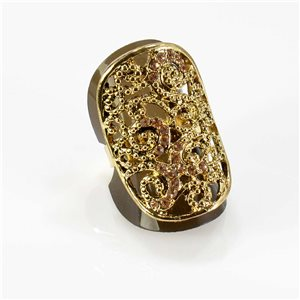 Bague Strass réglable Full Strass GOLD Vintage Collection 67762