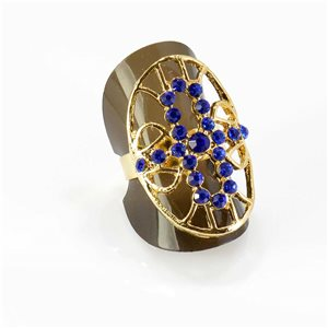 Bague Strass réglable Full Strass GOLD Vintage Collection 67781
