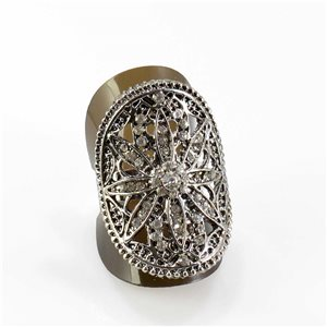 Bague Strass réglable Full Strass SILVER Vintage Collection 67819