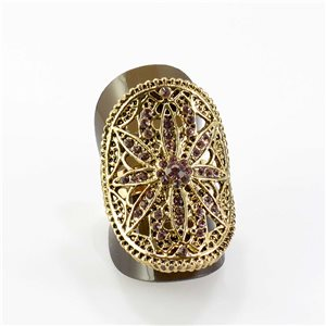 Bague Strass réglable Full Strass GOLD Vintage Collection 67832